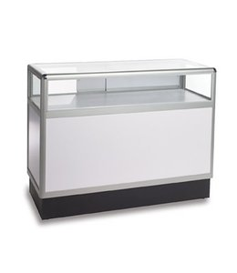 Comptoir vitré 1/3 vision aluminium