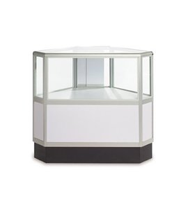Comptoir vitré hexagonal 2/3 vision aluminium