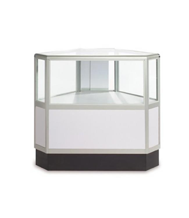 2/3 vision hexagonal glass counter aluminum