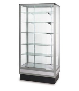 34'' x 20'' x 72''H wall or central display case