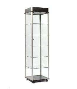 "20"" x 20"" x 76"" H display tower with casters"