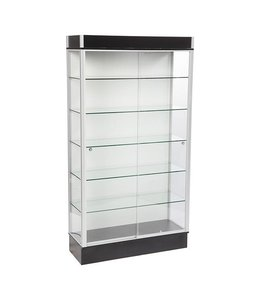 "42"" x 16"" x 78""H wall display case with 3 lights"