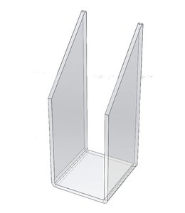 "Pencil divider 2-1/8""W x 2-1/4""D x 5-1/2""H, acrylic"