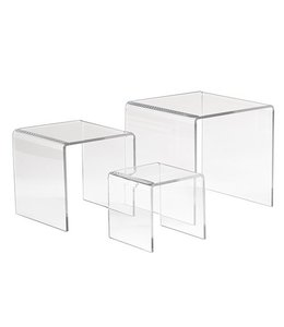 "Small square risers 3"" / 4"" / 5"", set of 3"