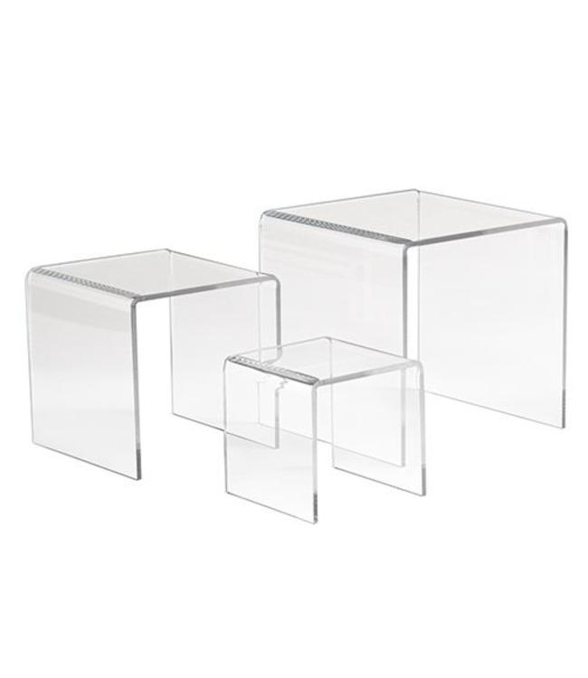 """Small square risers 3"""" / 4"""" / 5"""", set of 3"""