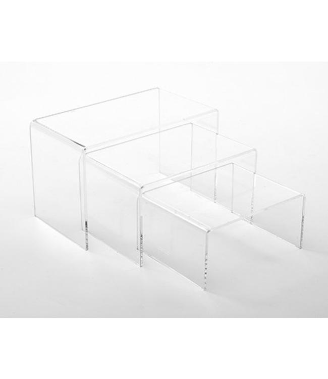 Small rectangular Risers, set of 3