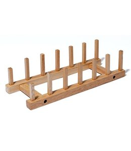 "Stand for 6 items  4-1/2""W x 11-1/2""D x 3""H, wood"