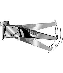 """Shelf bracket, adjustable 5 positions 8""""/10""""/12""""/14""""  for slatwall"""