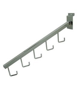 "Waterfall 5 hooks 16"",  3/4"" square tubing for slatwall"
