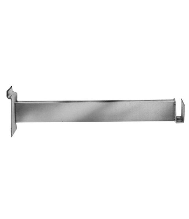 "Slatwall 12"" hangrail bracket for rectangular tubing 4509"