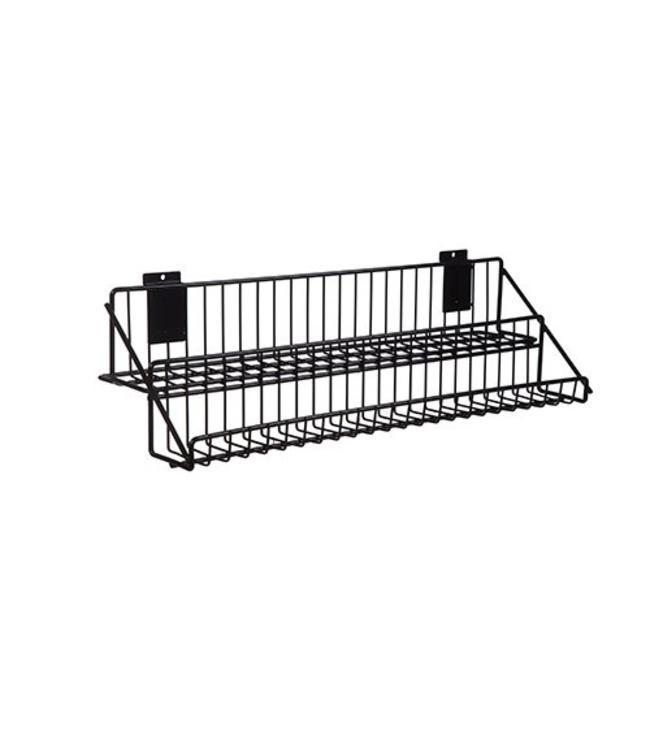 2 level metal shelf for slatwall