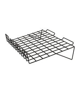 Shelf wire slanted 24'' x 15'' lip 3''H for slatwall