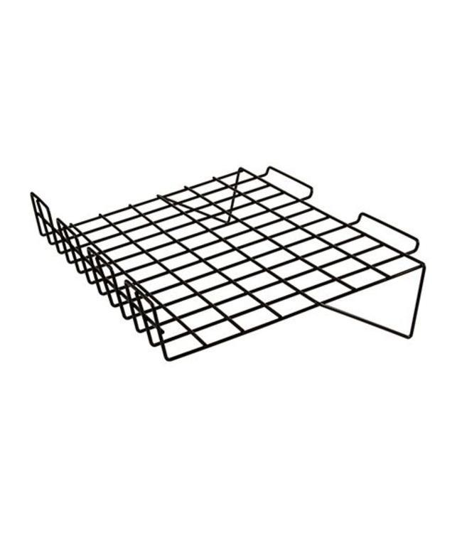 Tablette broche inclinée 24'' x 15'' rebord 3''H pour panneau rainuré