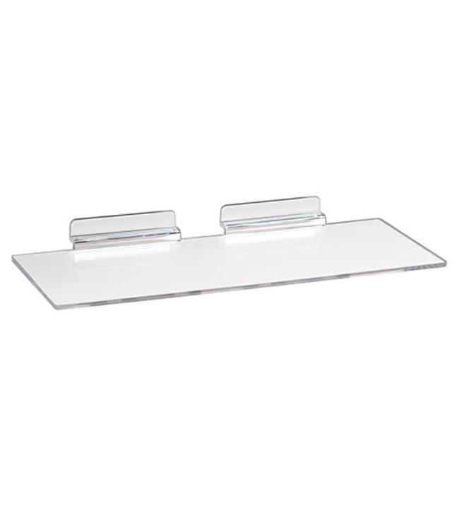 Tablette acrylique droite 12'' x 6'' pour panneau rainuré