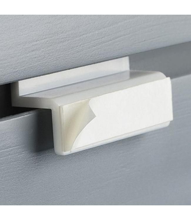 "Adhesive slatwall bracket 2-3/8""L"