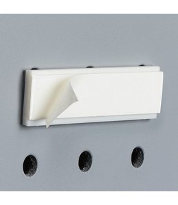 "Adhesive pegboard bracket 2-3/8""W"