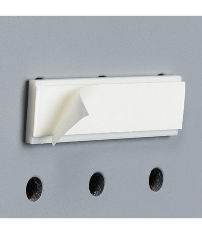 """Support auto-collant pour panneau perforé 2-3/8""""L"""