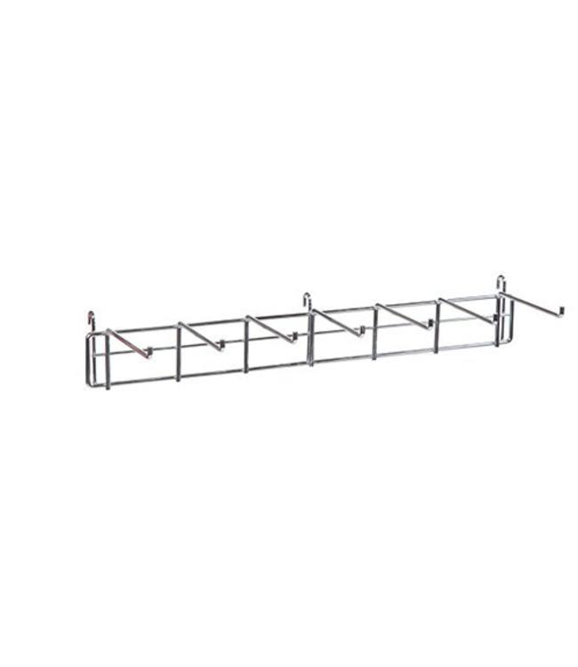 """Support à ceintures 7 crochets de 5.5"""" pour grille, 24""""L, chrome"""