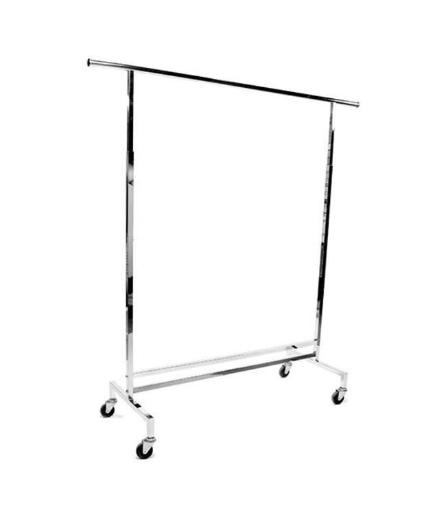 "Rolling rack 60"" height adjustable 54"" to 74""H on wheels"