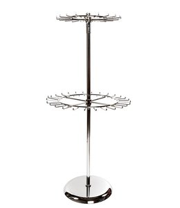 "Revolving belt rack 2 level 60""H chrome"
