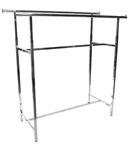 "Double rail rack 60""L height ajustable from 48"" to 72"" chrome"