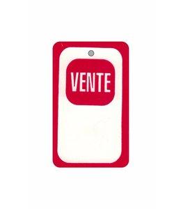 """""""VENTE"""" tag 1.75"""" x 2.88""""H"""