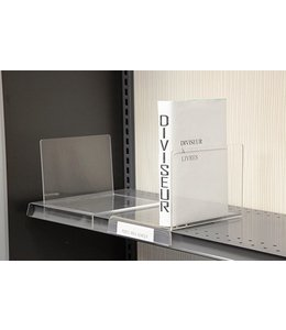 Book divider left or right, 6-1/4''W x 8''D x 5-1/2'' H, 1''lip