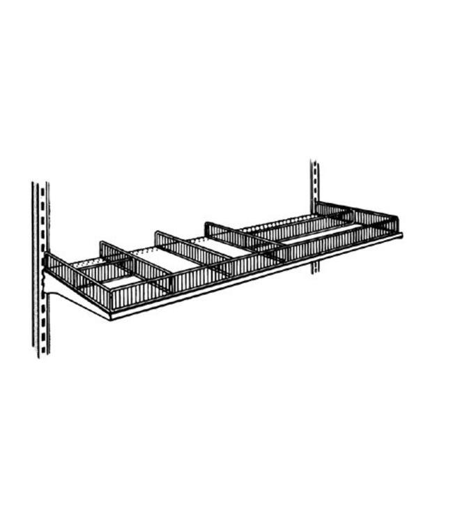 Subdivider for metal shelf