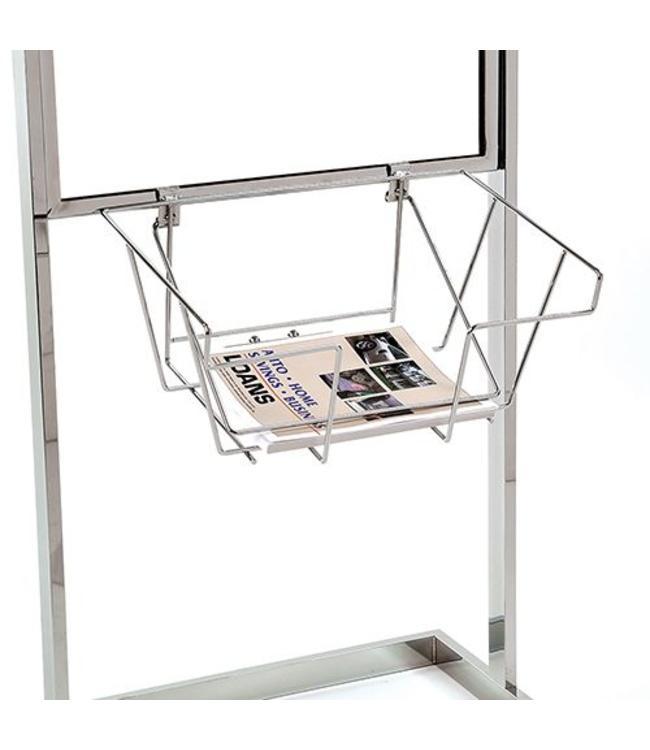 """Panier à brochures 13.5'' X 9"""" X 4.5""""H pour porte-affiche"""
