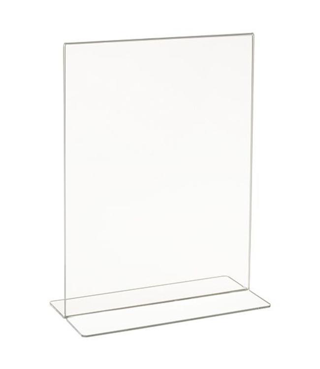 """Porte-affiche en T 5.5"""" x 7"""" H vertical, acrylique"""