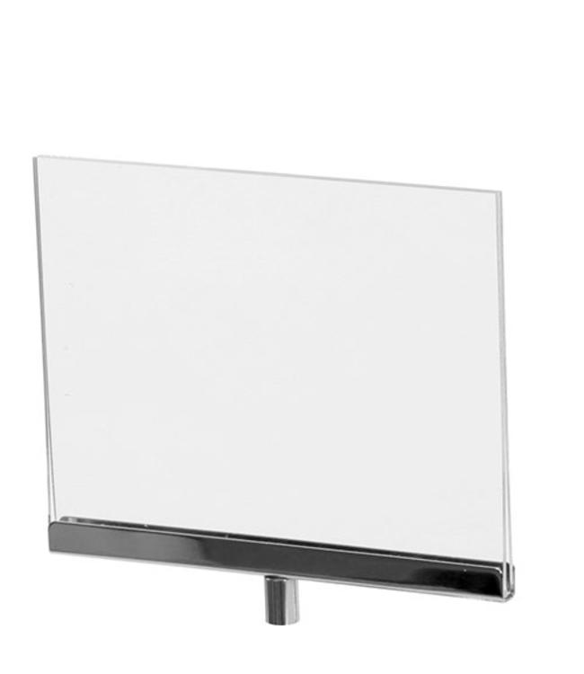 """Porte-affiche horizontal en acrylique 7"""" x 5.5"""" H"""
