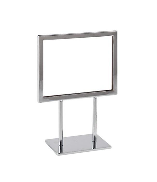 "Cadre horizontal sur base 7"" x 5 ½""H, chrome"