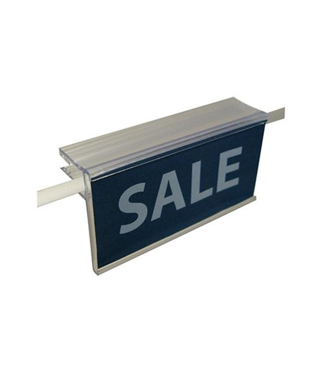"Price holder 1-1/4""H for glass shelf up to 1/4"" thick 24"" or 48'"""
