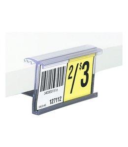 """Porte-prix 1-1/4""""H pour tablette 5/8'' ou 3/4'' d'épaisseur / 48"""" de long"""