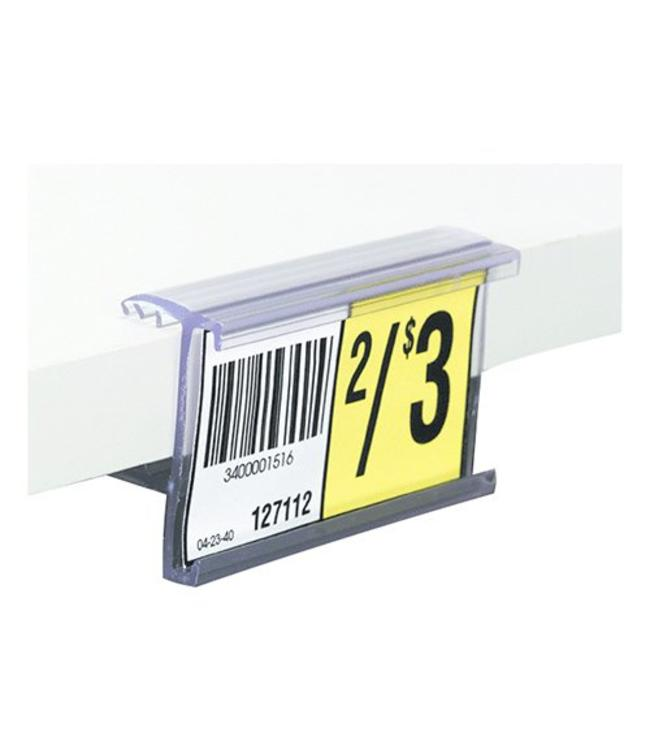 """Price holder 1-1/4""""H for shelf of  5/8'' or 3/4'' thick"""
