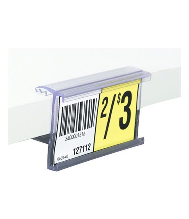 """Porte-prix 1-1/4""""H pour tablette 5/8'' ou 3/4'' d'épaisseur"""