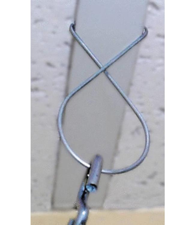 """Crochet pour plafond suspendu en métal 1-3/8""""x 2-3/4"""""""