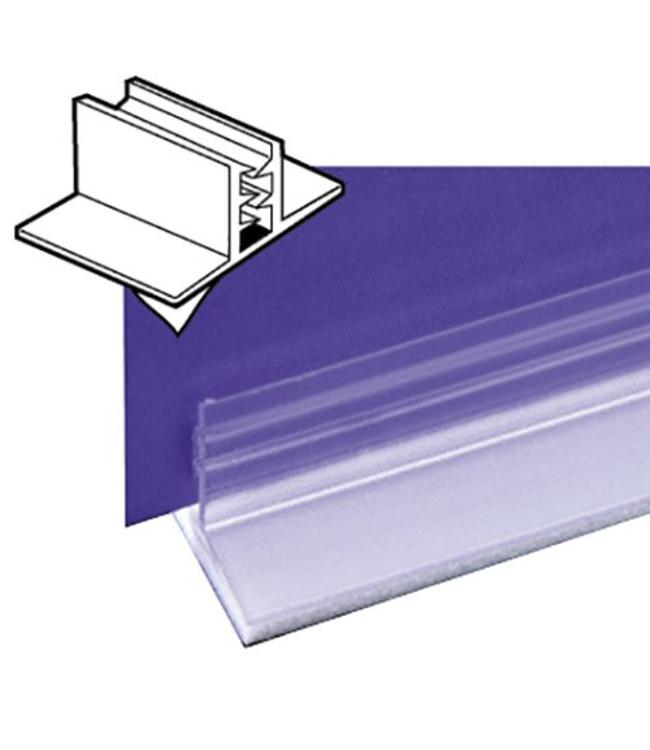 "Price holder, adhesive PVC, 1""x 1"", for matérial up to 0.065"" thick"