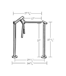 Turnstile and railing, call for pricing