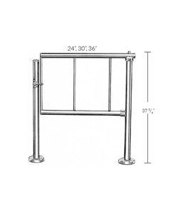 Turnstile and railing, latch gate, call for pricing