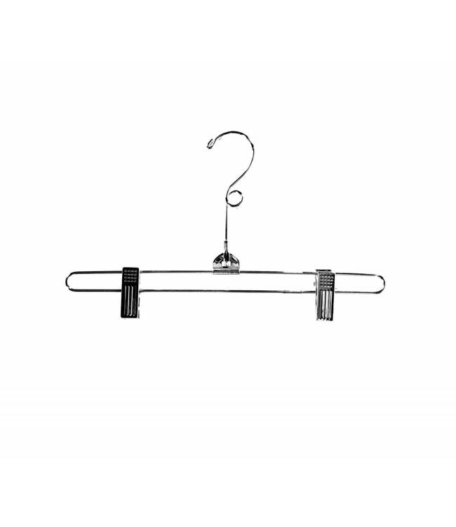 """12"""" Metal hanger with clips, chrome"""