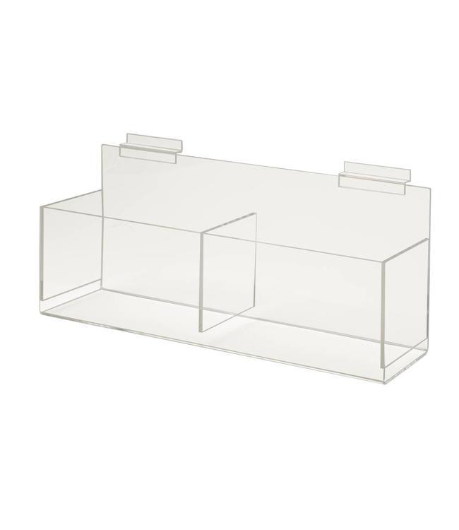"""Boîte acrylique 14""""x4-1/2""""x4-1/2"""" pour slatwall"""