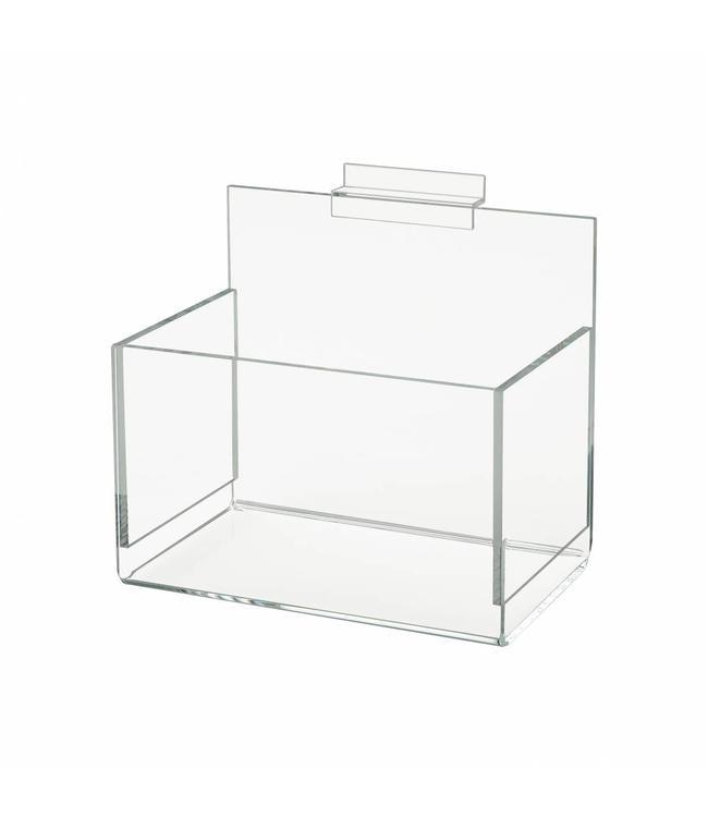 """Boîte en acrylique 7"""" x 4-1/2"""" x 4-1/2"""" pour slatwall"""