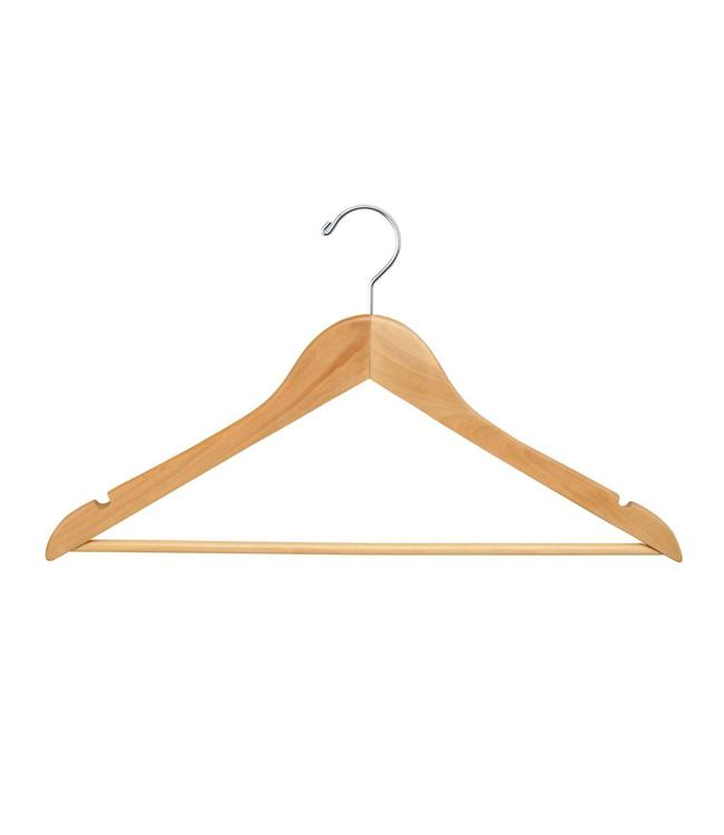 "17"" Wood hanger with bar box 100"