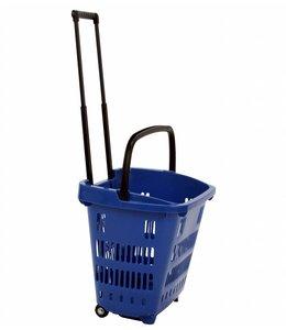 """Panier de magasinage 34 litres sur roues 18-1/8""""x 13-5/8""""x 15-3/4""""H, plastique"""