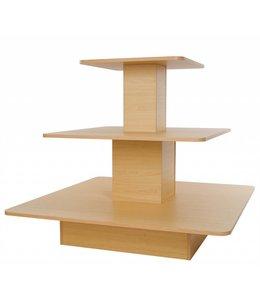 """Table carrée 3 niveaux 48""""x48""""x42""""H Érable"""