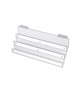 "Card display 24""W, 3 level for slatwall or wallmount"