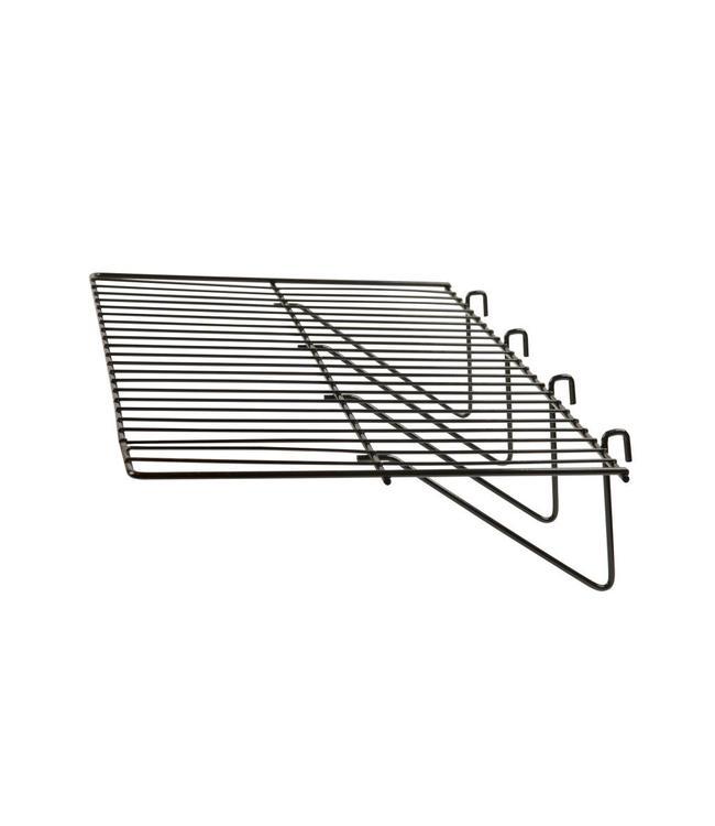 "Tablette broche droite 23.5"" x 12"" pour grille"