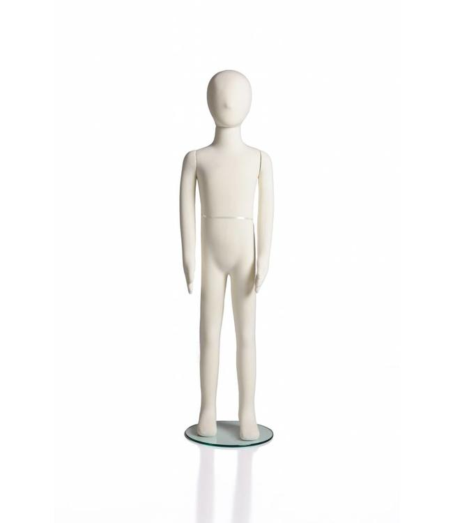 "8 years old kid flexible mannequin, 47""H cream fabric"