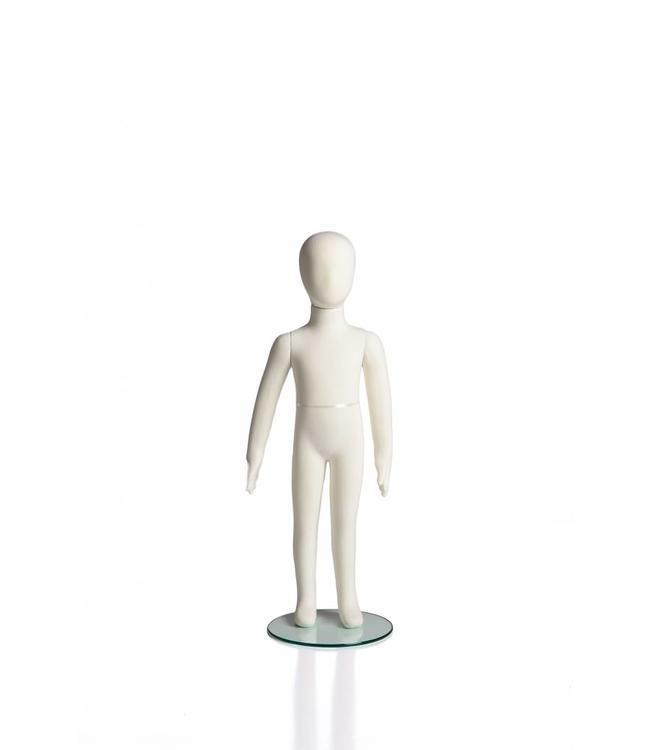 """6 years old kid flexible mannequin, 41""""H cream fabric"""